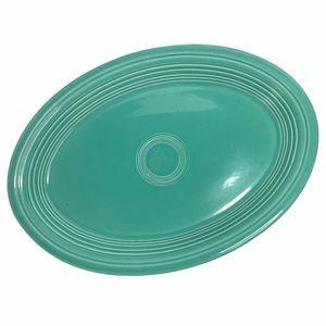 "VTG Fiesta Ware Turquoise Oval Platter 90s (1994 - IIB) ~13.5"""
